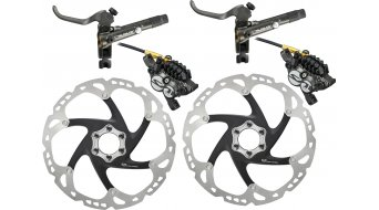 Shimano Saint M820-B Scheibenbremsen-Set VR 203mm PM / HR 203mm PM (H03C Metall-Belag)