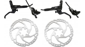 Shimano XT M8000 / SM-RT66 Scheibenbremsen-Set 180mm VR+HR G02A-Resin-Pad (ohne Adapter)