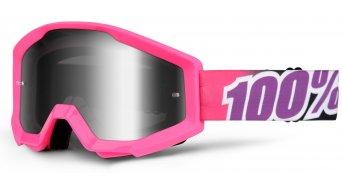 100% Strata Goggle bubble gum (Anti-Fog mirror lens)