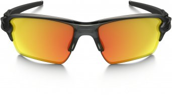 Oakley Flak 2.0 XL Brille matte grey smoke/fire iridium polarized