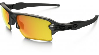 Oakley Flak 2.0 XL gafas matte grey smoke/fire iridium polarized