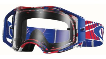 Oakley Airbrake MX Goggle checked rwb/clear
