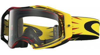 Oakley Airbrake MX Goggle high voltage rojo/amarillo/clear