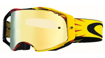 Oakley Airbrake MX Goggle high voltage rojo/amarillo/24k iridium