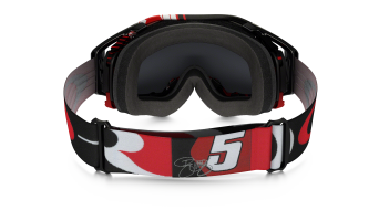 Oakley Airbrake MX Goggle block pass rojo/dark grey