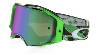 Oakley Airbrake MX Goggle neon green camo/prizm mx jade