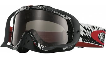 Oakley Crowbar MX Goggle podium check rojo/negro/dark grey