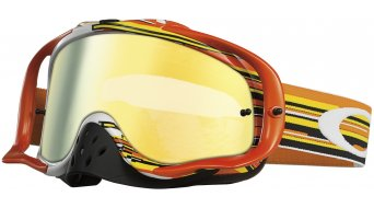 Oakley Crowbar MX Goggle glitch naranja/amarillo/24k & clear