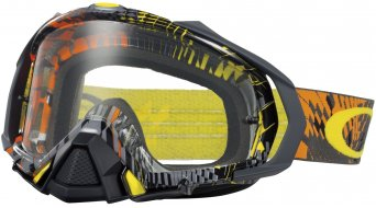 Oakley Mayhem Pro MX Goggle podium check naranja/clear