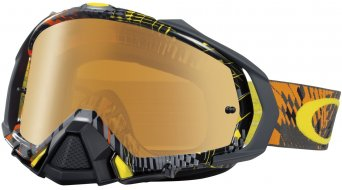 Oakley Mayhem Pro MX Goggle podium check naranja/fire iridium