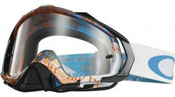 Oakley Mayhem Pro MX Goggle tagline blue/orange/clear