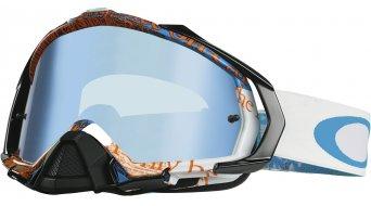 Oakley Mayhem Pro MX Goggle tagline blue/orange/black ice iridium