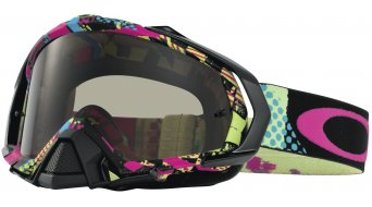 Oakley Mayhem Pro MX Goggle mosh pit color neón/dark grey