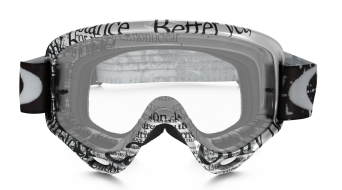 Oakley O Frame MX Goggle tagline black/white/clear