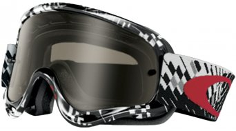 Oakley sin Frame MX Goggle podium check/dark grey & clear