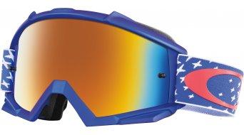 Oakley Proven MX Goggle starburst red white blue/fire iridium