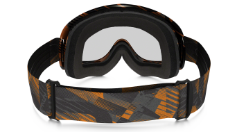 Oakley XS sin Frame MX Goggle digi-slash naranja/clear