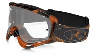 Oakley XS O Frame Mx Goggle digi-slash arancione/clear
