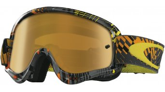 Oakley XS O Frame Mx Goggle podium check arancione/fire iridium