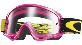 Oakley XS O Frame MX Goggle high voltage pink/clear