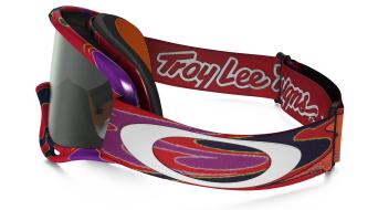 Oakley XS O Frame Mx Goggle reflection arancione purple/dark grey- Troy Lee Designs Series