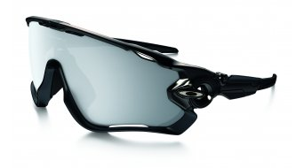 Oakley Jawbreaker Brille polished black/chrome iridium vented