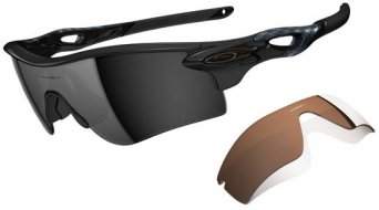 Oakley Radarlock Path gafas polished negro/negro iridium polarized & vr28 negro iridium