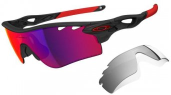 Oakley Radarlock Path Brille matte black ink/oo red polarized vented & black iridium vented