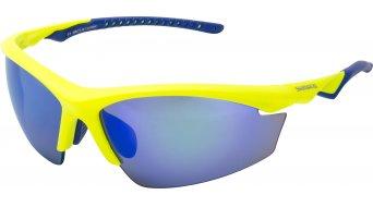Shimano CE-EQX2-PL lunettes de vélo neon jaune/bleu matt incl. 2 lentille (grey polarized/clear)