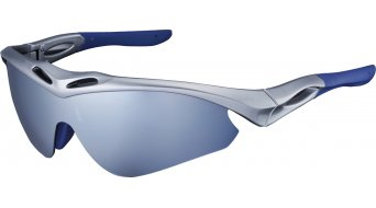 Shimano CE-S50R Radbrille shiny silver metallic inkl. 3 Linsen (blue mirror/brown/clear)