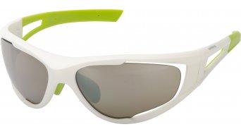 Shimano CE-S50X lunettes de vélo blanc/vert matt incl. 2 lentille (marron/clear)