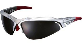 Shimano CE-S60R lunettes de vélo shiny argent métallique inkl. 2 lentille (marron/clear)