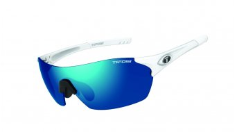 Tifosi Launch FS szemüveg Frame:-matte-white-lencse:-clarion-blue/ac-red(shield)//clarion-blue/clear(full-frame)