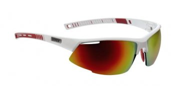 Uvex Radical Pro gafas blanco rojo/mirror rojo