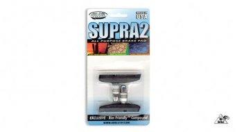 Kool-Stop Supra 2 Bremsklötze V-Brake schwarz, Gewinde, für Std Felgen
