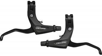 Shimano Deore Trekking V-Brake 刹车手柄及连接件 双 黑色 (含有导线 和 罩) BL-T610