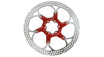 Formula disco de freno floating 140mm 6 agujeros rojo