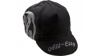 All City AC Shield Cycling Cap negro gris