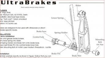 Extralite Ultrabrake Spring Slider/Bolt