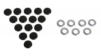 Magura MT Scheibenbremsen-Ersatzteile Blendenkit: 10x silber offen, 20x schwarz geschlossen