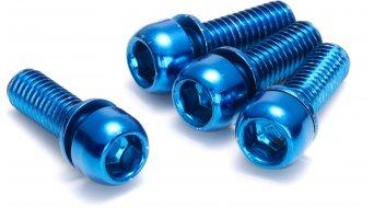 Reverse tornillos de mordaza M6x18mm (4 uds.) azul