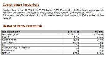 PowerBar Gel C2MAX 41g Beutel Mango/Passionsfrucht + Guarana - eine Box, Inhalt = 24 Stk.