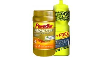 Powerbar Isoactive Sportsdrink Onpack 600g Dose Orange + Gratis Trinkflasche 0,7L