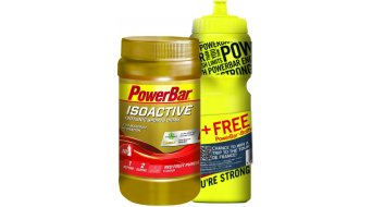 Powerbar Isoactive Sportsdrink Onpack 600g Dose Red Fruit Punch + Gratis Trinkflasche 0,7L