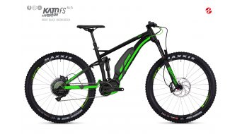 Ghost Hybride Kato FS S6.7+ AL U 27.5+ E-Bike 整车 型号 XL night black/neon green 款型 2018