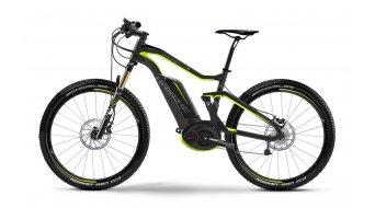 Haibike XDURO FullSeven karbon Pro 27.5 MTB elektromos kerékpár Méret 40cm UD karbon/zöld matt Bosch Performance CX-meghajtás 2016 Modell