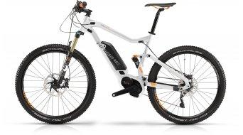 Haibike XDURO FullLife RX 27.5 MTB E-Bike Damenrad Gr. 50cm perlweiß/orange matt Bosch Performance CX-Antrieb Mod. 2016