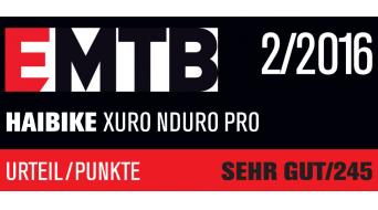Haibike XDURO Nduro Pro 27.5 MTB E-Bike tamaño 42cm color plata/amarillo/rojo color apagado Bosch Performance CX-tracción Mod. 2016