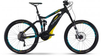 Haibike SDURO NDURO 6.0 27.5 MTB E-Bike Komplettrad schwarz/cyan/gelb matt Yamaha PW-Antrieb Mod. 2017
