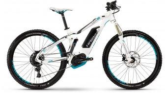 """Haibike XDURO FullLife 5.0 27.5"""" VTT E- vélo femmes vélo taille blanc/titane/cyan Bosch Performance CX-Antrieb Mod. 2017"""